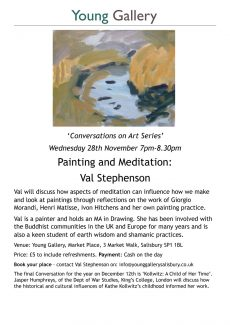Conversations about art: Painting and Meditation